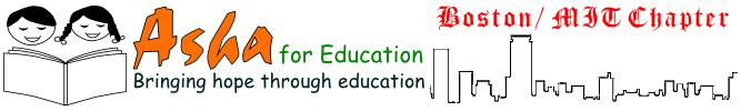 The Boston/MIT chapter of Asha for Education